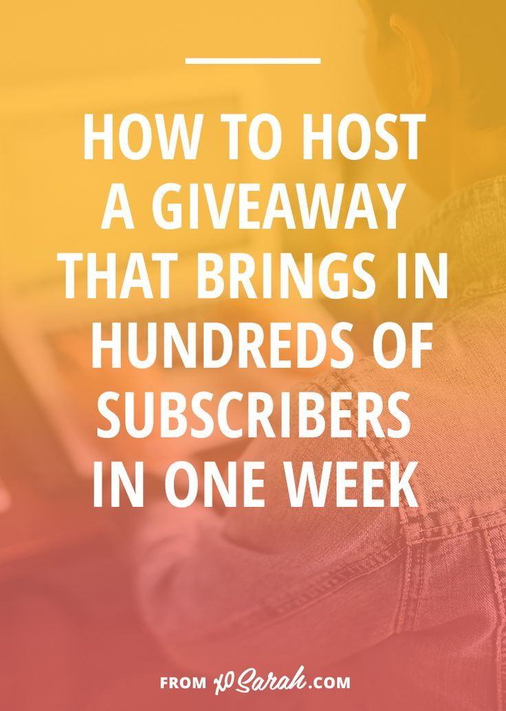 Over the past year hosting giveaways has added over 5,000 subscribers to my email list. It's a quick and simple marketing strategy that you can put together today and launch tomorrow - click through to see how I did it.