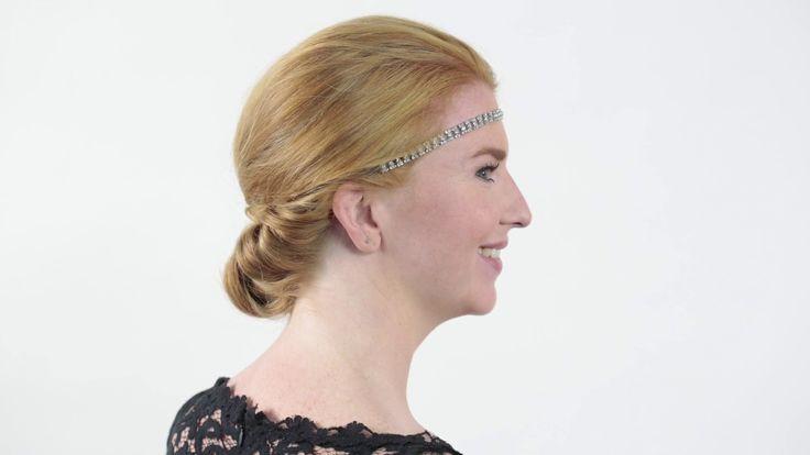 Feest: Opgestoken kapsel met prachtige strass haarband