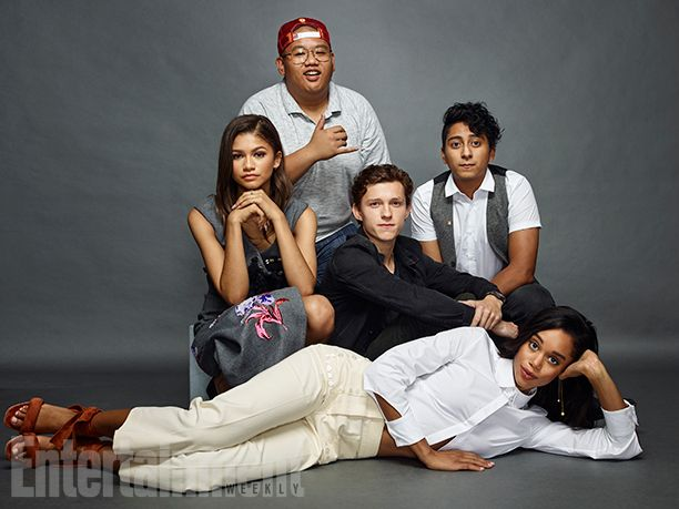 Zendaya, Jacob Batalon, Tom Holland, Tony Revolori and Laura Harrier, 'Spider-Man: Homecoming'
