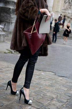 fur and chanel heels