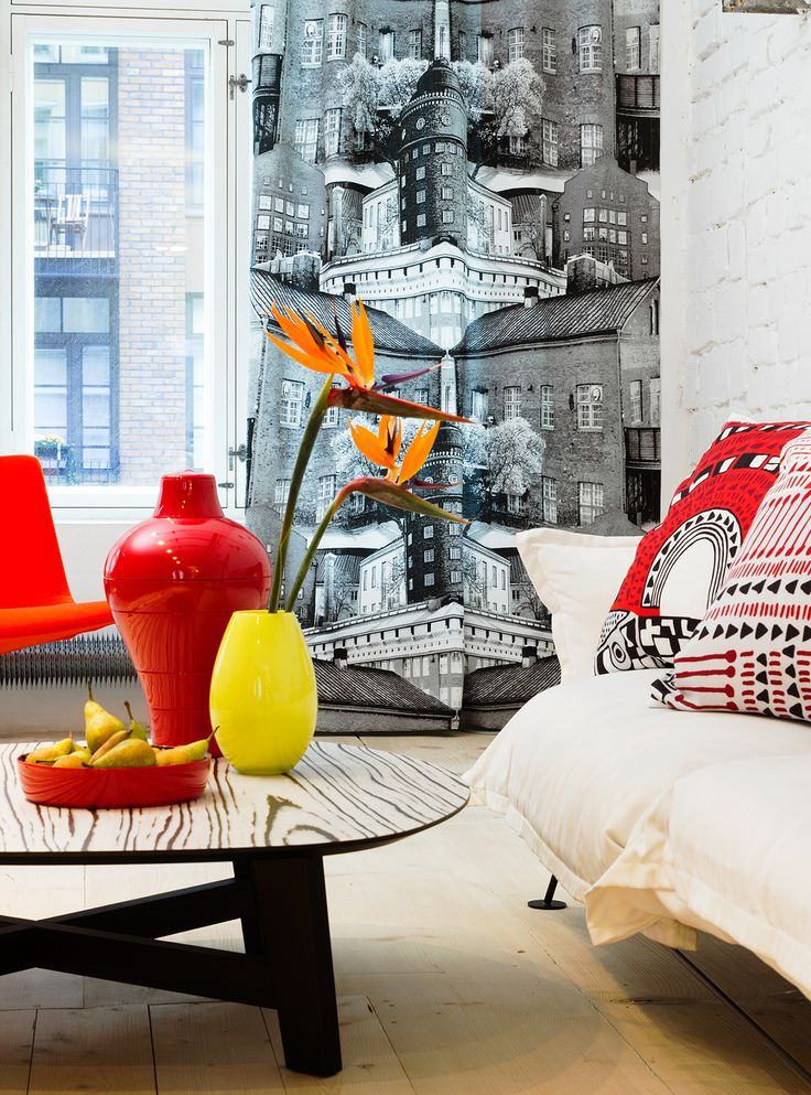 Fabrics, curtains and cushions by Vallila Interior, Finland.
