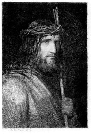 Portrait of Christ by Carl Heinrich Bloch - love it!