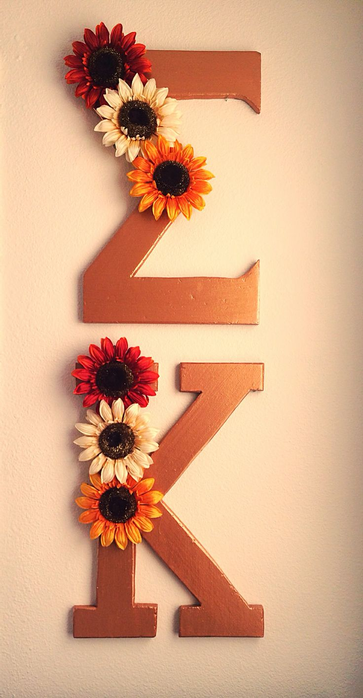 Floral rustic gold letters #sigmakappa