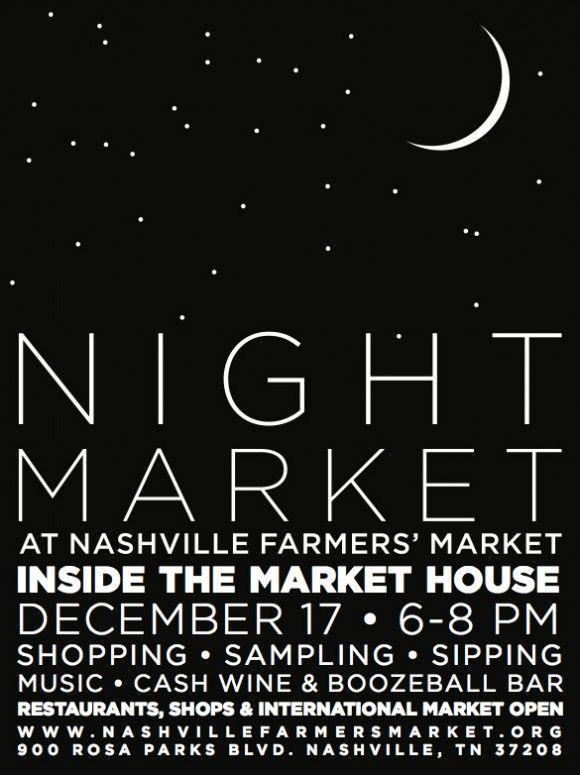 Night Market Poster Nashville Farmers' Market