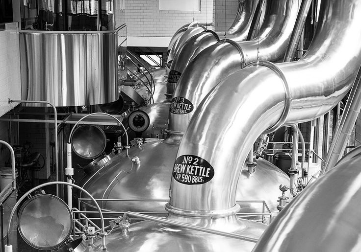 The brew kettles at the Miller Brewery in Milwaukee, WI.