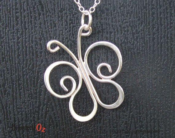 Butterfly Necklace Butterfly Pendant Sterling by BijouterieOz