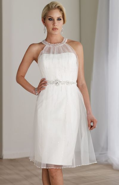 Alternate View Of The Destinations By Mon Cheri Short Lace Casual Wedding Dress 211187T Image