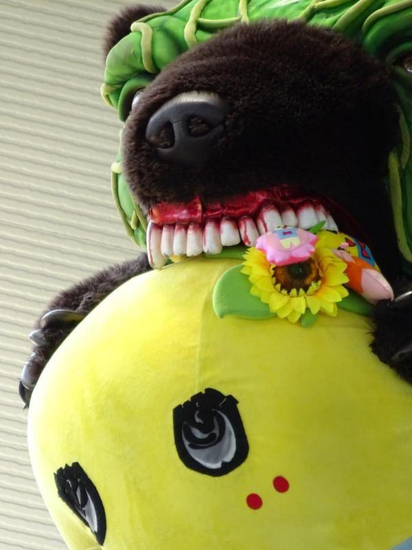 メロン熊に咬まれる(笑)