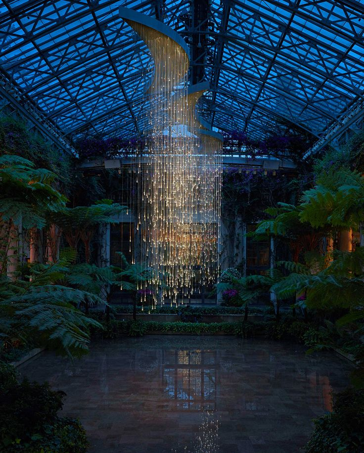 'lightshower' by bruce munro at longwood gardens