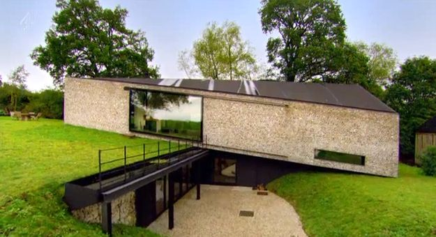 when is a farmhouse not a farmhouse... when it has a sliding door as amazing as this glass one..  External Sliding Door as seen on Grand Designs 2013