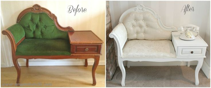 Amy Antoinette - Lifestyle Blog: Shabby to Chic -Vintage Telephone Table