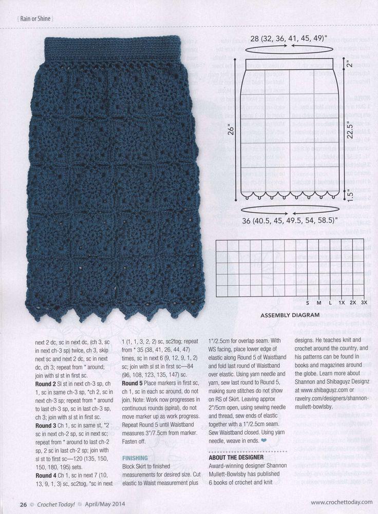 139 best crochet skirt images on Pinterest   Crochet skirts, Skirts ...