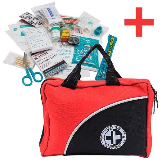GIWOX 救急セット 防災セット 家庭 職場 アウトドア等 怪我用 応急処置セット 29種類 赤バッグ ファーストエイドキット 緊急応急セット