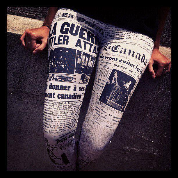 Black Milk newspaper leggings