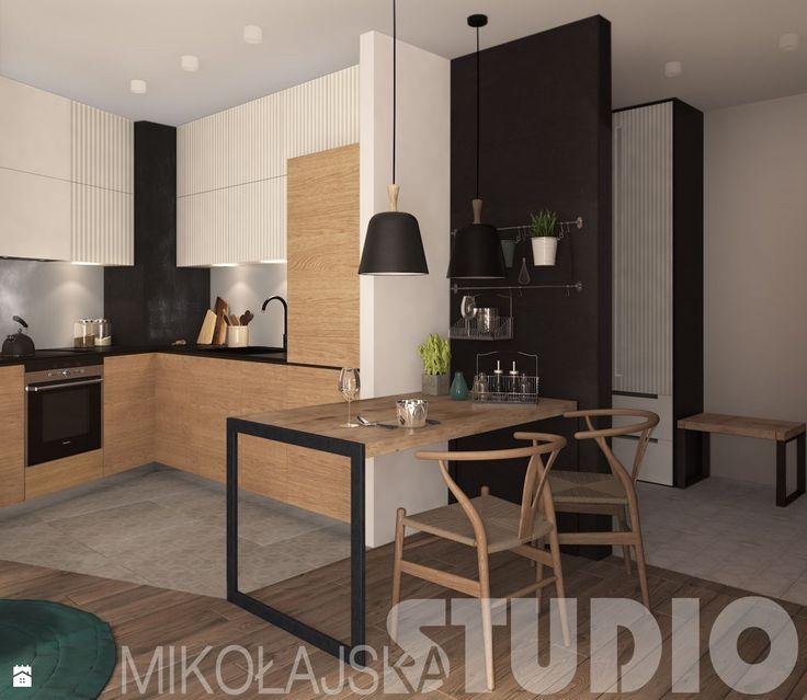 minimalistyczne współczesne mieszkanie - zdjęcie od MIKOŁAJSKAstudio - Kuchnia - Styl Nowoczesny - MIKOŁAJSKAstudio