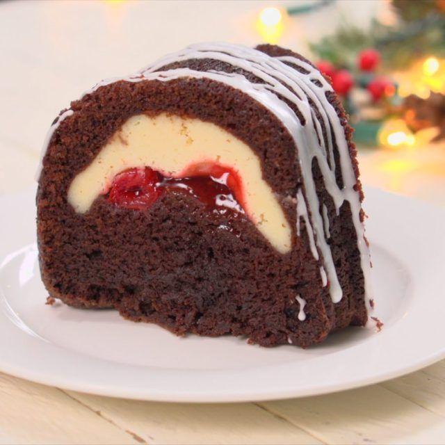 Cherry eggnog bundt cake recipe