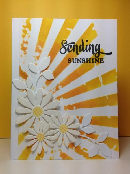 taxco silver Sending Sunshine  Tim Holtz stencil  by beesmom   Cards and Paper Crafts at Splitcoaststampers