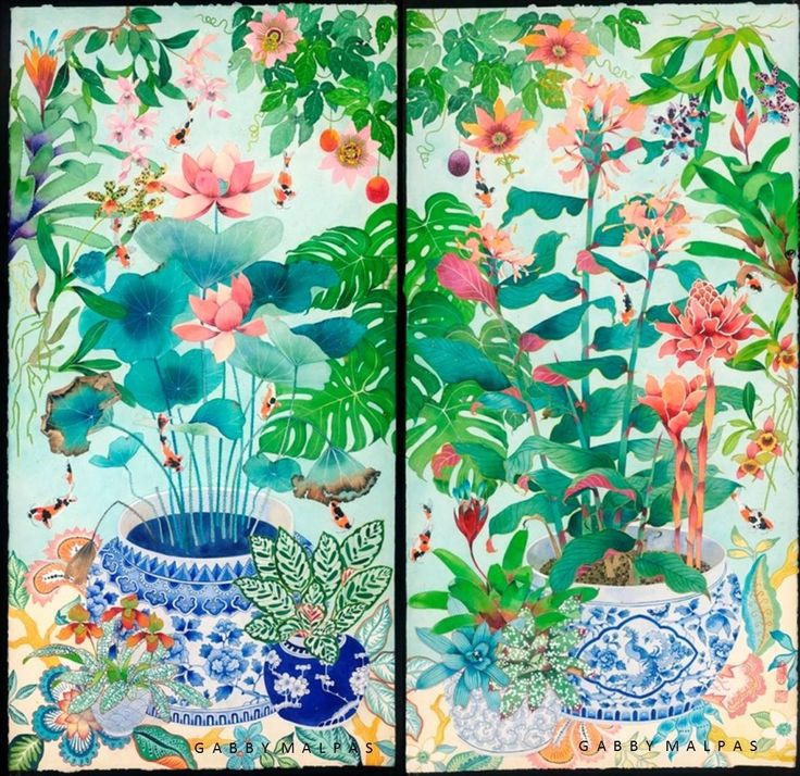 Latest commission in watercolourand gouache on Arches 300GSM paper. Each panel is 63cm x 125cm