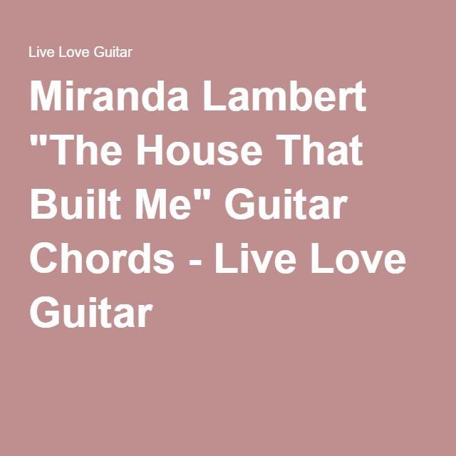 show me how to live guitar chords