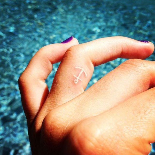 Cute and subtle anchor tattoo