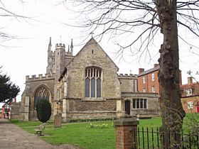 Newport Pagnell - This is the church of St. Peter and St. Paul in Newport Pagnell. It is around 700 years old in parts and is very pretty. It had the nave added around 100 years after the original church was built. © www.newport-pagnell.co.uk