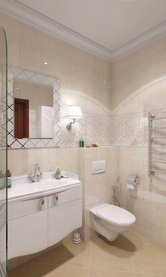 Бежевая ванная - дизайн интерьера: фото идеи