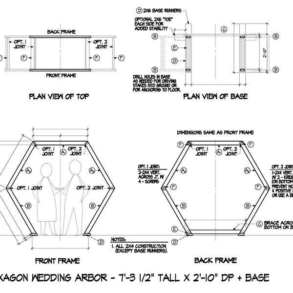 Construction Plans For Hexagon Wedding Arbor Diy Wooden Arch Project In 2021 Hexagon Wedding Diy Wedding Arbor Wedding Arbour