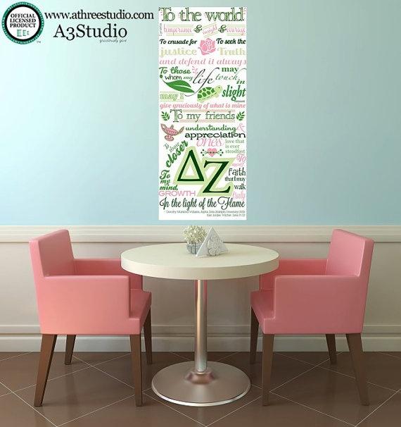 Delta Zeta Creed Wall Decal Medium by AThreeStudio on Etsy, $28.00