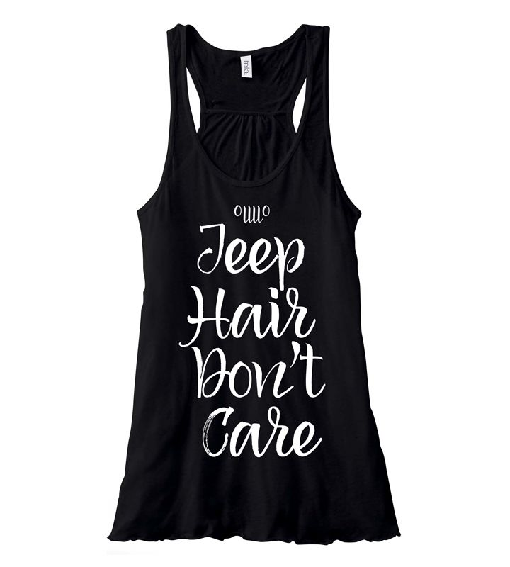 All Things Jeep - Jeep Hair Don't Care Flowy Tank in Black