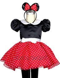 Baby Minnie Mouse Costume with Ears and Mini Skirt