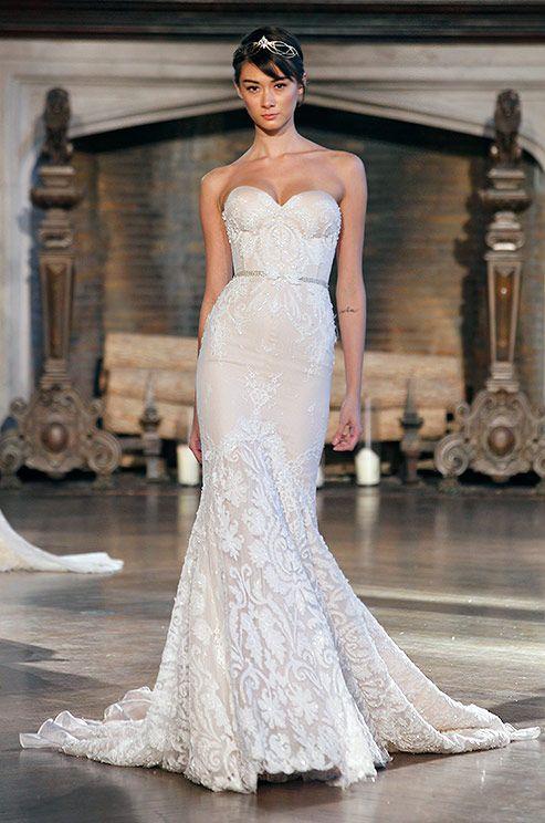 Beautiful strapless mermaid wedding dress by Inbal Dror, 2015