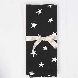 Set de repasadores Yavi, negro estrella blanca
