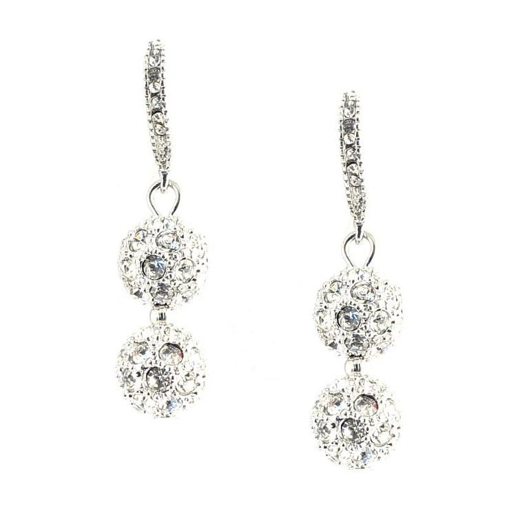 Mikey London Crystal Ball Earrings