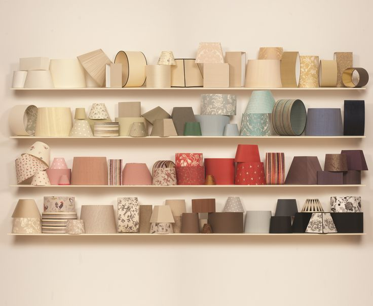 Every shade in every side in every colour! You can find them all here: http://www.jim-lawrence.co.uk/node/4857/lamp-shades and what you can't find in our Classic Collection online, you can create yourself with our Lampshade Builder or order as a Bespoke Shade