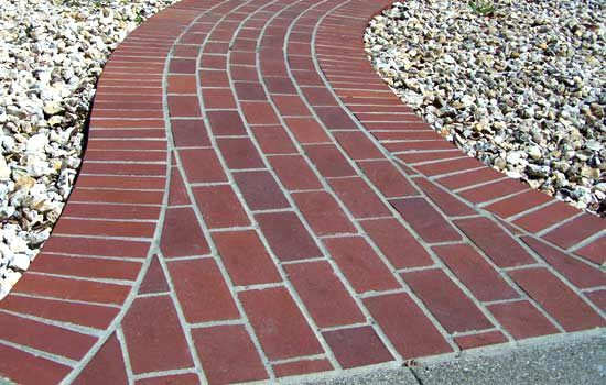 for the flare out where the walkway will meet the driveway