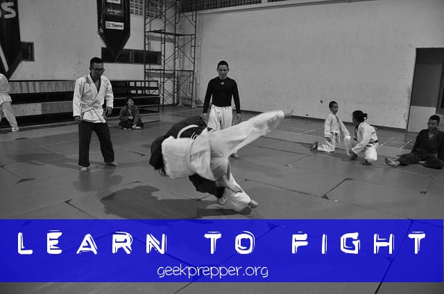 Learn To Fight - If you want to survive, thrive, and get some great exercise invest some time in yourself, and learn to fight! Don't be a victim, even if you get attacked!  geekprepper.org