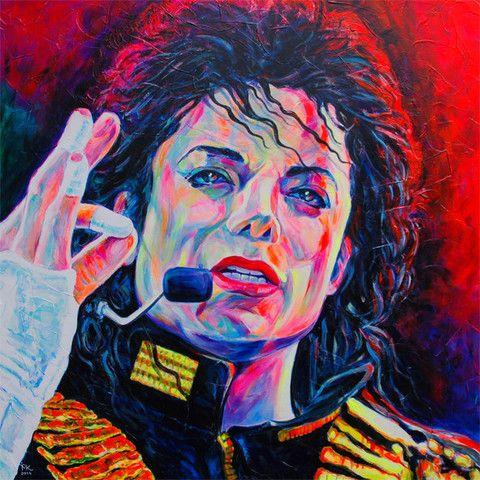 Margarita Kriebitzsch - Michael Jackson Portrait - King of Pop | KUNST-ONLINE