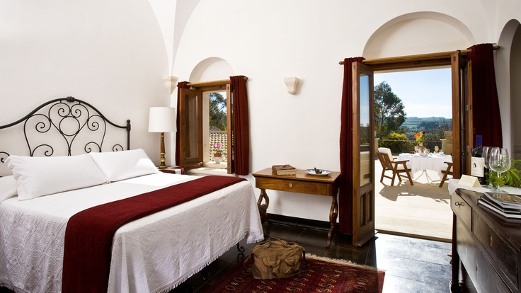 One of the lovely rooms at Eremo della Giubliana, Sicily