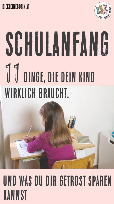 Schulanfang. Eine ganz besondere Zeit