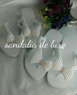 O que vc precisa : Sandalia decorada modelos mae e filha