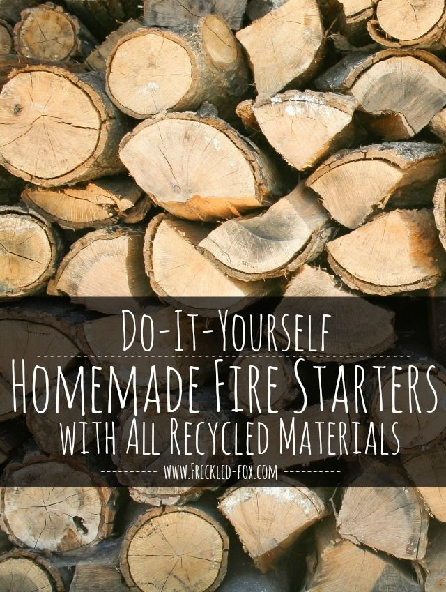DIY Homemade Fire Starters with All Recycled Materials - The Freckled Fox