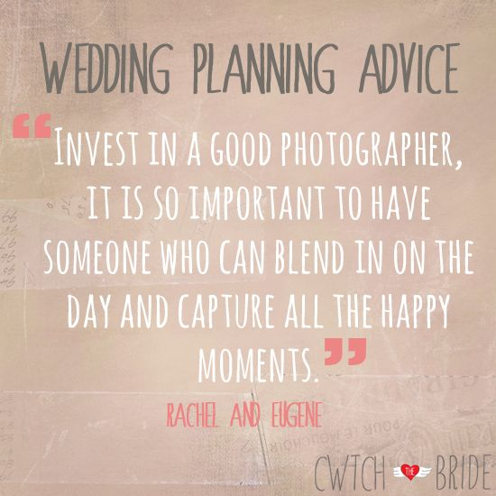 Wedding Planning Advice Invest In A Good Photographer It Is So Important To