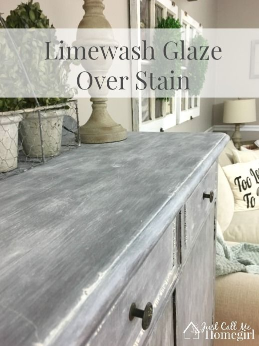 I used Valspar's Limewash Glaze over Stain on an antique dresser.