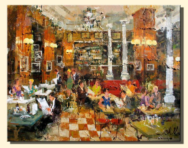 Josep Costa Vila, Cafe Gijon, Madrid