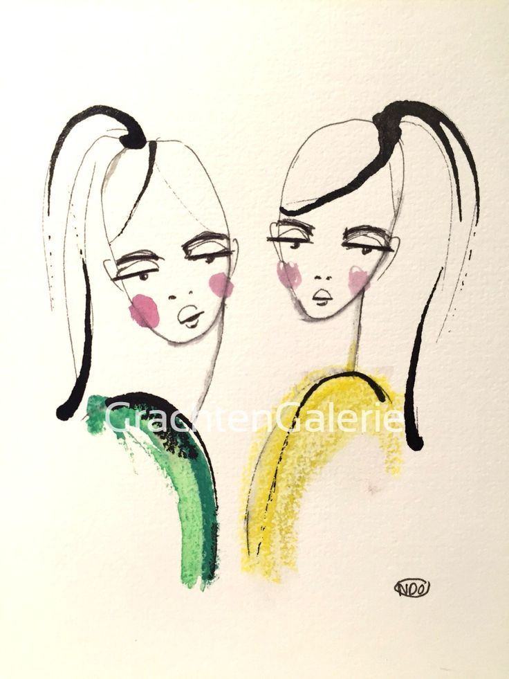 Noortje den Oudsten | woman 11 | tekening | kunst | illustratie | mode | aquarel | kunstcadeau | drawing | art | fashion | illustration | presents | women