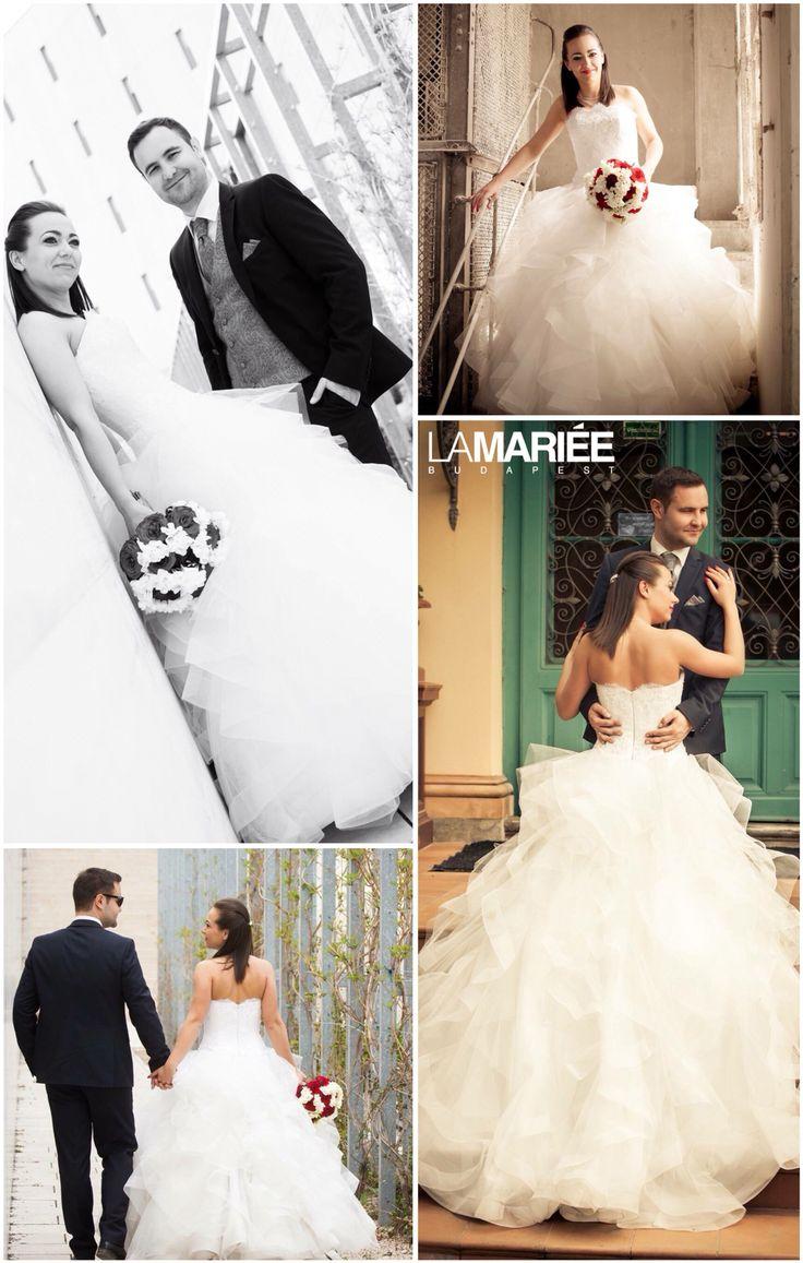 Leante esküvői ruha - Pronovias kollekció - Petra menyasszonyunk  http://mobile.lamariee.hu/eskuvoi-ruha/pronovias-2015/leante