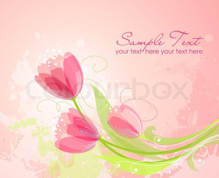 Floral background mit Tulpen | Stock-Vektor | Colourbox on Colourbox