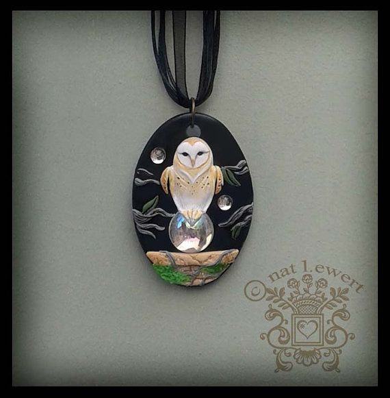 18 best the owl artworks of natalie ewert images on pinterest jareth the goblin king oval sculpted pendant by dreamtrappings mozeypictures Image collections