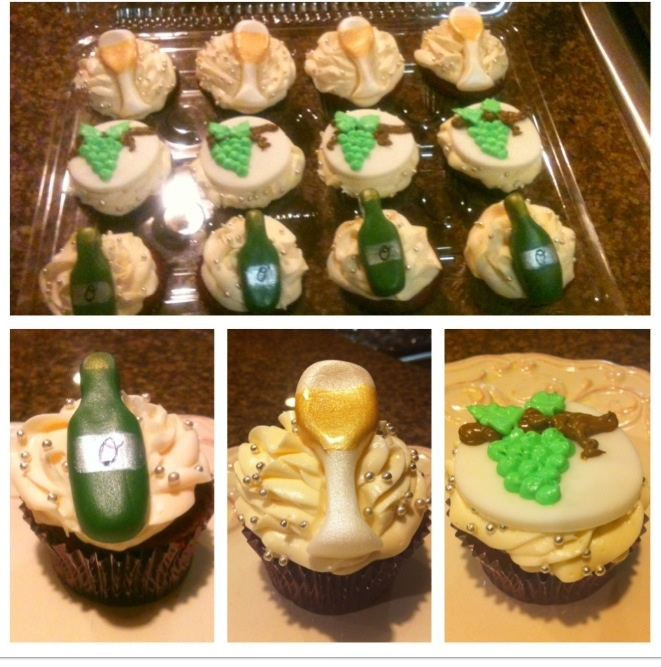 Themed cupcakes, Wine and Cupcake on Pinterest