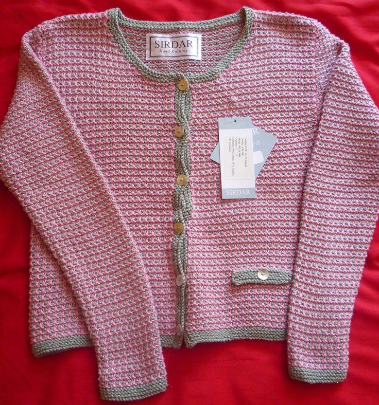 Ladies Hand-knitted DK Short Cardigan